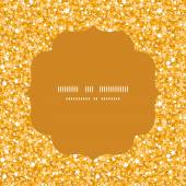 Vector golden shiny glitter texture circle frame seamless pattern background — Vetorial Stock