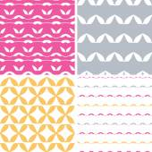 Four bstract leaf shapes geometric patterns backgrounds — Vector de stock