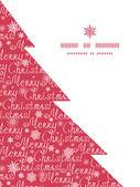 Vector merry christmas text pine tree silhouette pattern frame card template — Stockvektor
