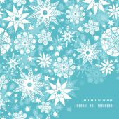 Vector decorative frost Christmas snowflake silhouette pattern frame card template — Stock Vector