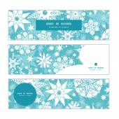 Vector decorative frost Christmas snowflake silhouette pattern frame card template — Vettoriale Stock