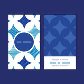 Vector blue marble tiles vertical round frame pattern business cards set — Vetorial Stock