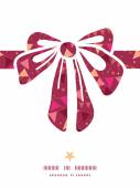 Vector christmas decorations flags gift bow silhouette pattern frame — Vecteur