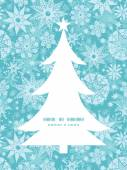 Vector decorative frost Christmas snowflake silhouette pattern frame card template — Stok Vektör