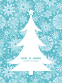Vector decorative frost Christmas snowflake silhouette pattern frame card template — Vecteur