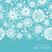 Vector decorative frost Christmas snowflake silhouette pattern frame card template — Vector de stock