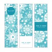 Vector decorative frost Christmas snowflake silhouette pattern frame card template — Stockvektor