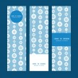 Vector blue and white snowflakes stripes vertical banners set pattern background — Stock vektor #56075221