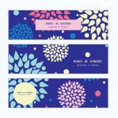 Vector colorful bursts horizontal banners set pattern background — Vetorial Stock