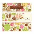 Vector colorful cookies horizontal banners set pattern background — Stock Vector #56737557