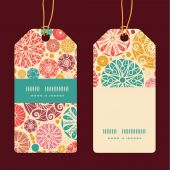 Vector abstract decorative circles vertical stripe frame pattern tags set — ストックベクタ