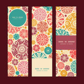Vector abstract decorative circles vertical banners set pattern background — Stock Vector