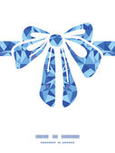 Vector blue triangle texture gift bow silhouette pattern frame — Vecteur