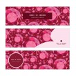 Vector ruby horizontal banners set pattern background — Stock Vector #57855273