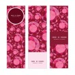 Vector ruby vertical banners set pattern background — Stock Vector #57855367