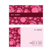 Vector ruby horizontal stripe frame pattern business cards set — Vetor de Stock