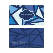 Vector abstract ice chrystals horizontal frame pattern business cards set — Stock Vector