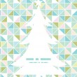 Vector colorful pastel triangle texture Christmas tree silhouette pattern frame card template — Stock Vector #59394561