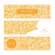Vector golden lace roses horizontal banners set pattern background — Stock Vector #59412921