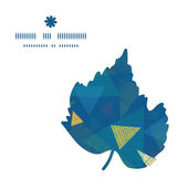 Vector abstracte stof driehoeken blad silhouet patroon frame — Stockvector