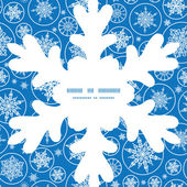 Vector falling snowflakes Christmas snowflake silhouette pattern frame card template — Stock Vector
