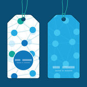 Vector connected dots vertical round frame pattern tags set — Stock Vector