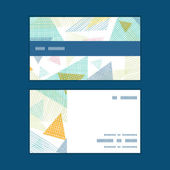 Vector abstract fabric triangles horizontal stripe frame pattern business cards set — Vector de stock