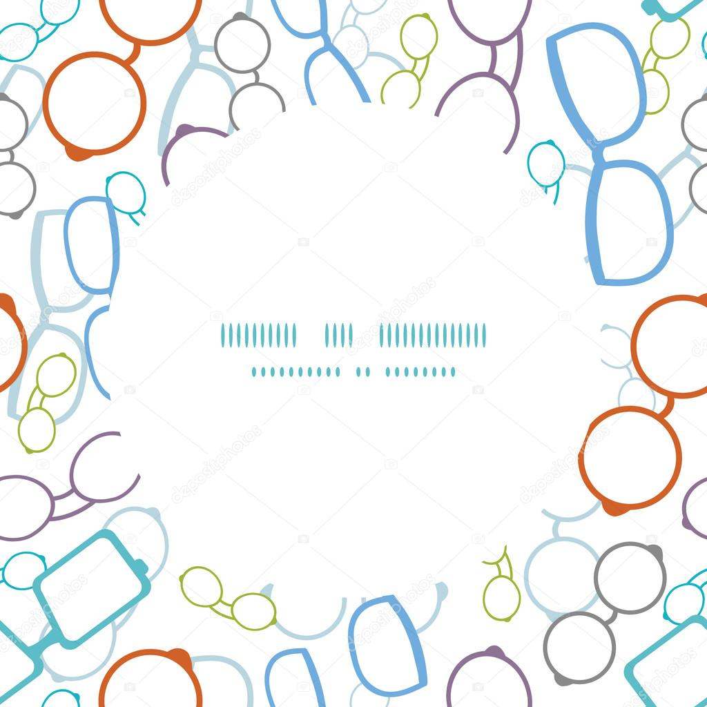 Eyeglass Frame Vector : Vector colorful glasses frame seamless pattern background ...