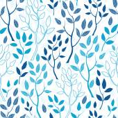 Vector blue forest seamless pattern background — Stock Vector