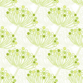 Vector green bubble plants geometric seamless pattern background — Stock Vector