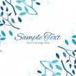 Vector blue forest horizontal double corners frame invitation template — Stock Vector #75077135