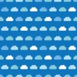 Vector Clouds Blue Sky Seamless Pattern — Stock Vector #76829259