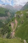 Cross pass, Caucasus Mountains, Georgia — Stock Photo