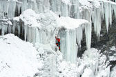 Ice climbing the North Caucasus. — Stock Photo