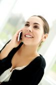 Attractive young woman making a phone call — Stock Photo