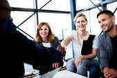 White female executive smiling at camera — Стоковое фото
