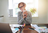 Happy successful businesswoman — Stock Photo