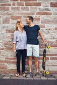 Humorous couple loving each other — Stock Photo