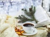 Noel fincan kahve — Stok fotoğraf