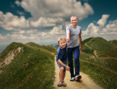 Padre e figlio — Foto Stock
