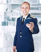 Airport service man — Stock Photo