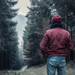 Man walking in forest — Stock Photo #59907323