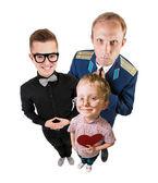 Three funny guys portrait — Stock Photo