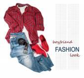 Boy friend trendy look costume — Stock Photo
