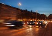 City traffic at night — Stock Photo