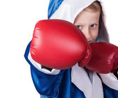 Little boy  in boxing gloves — Foto Stock