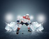 氷のホッケー選手 — ストック写真
