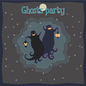 Ghosts party — Stock Vector