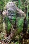 Realistic model of prehistoric animal — Stock Photo