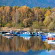 Water reflection - lake Liptovska Mara, Slovakia — Stock Photo #55867975